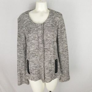 DREW boucle sweater jacket size L